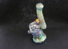 Custom bubbler with dicro tube wrap on the can, honeycomb implosion neck and panda milli image marble